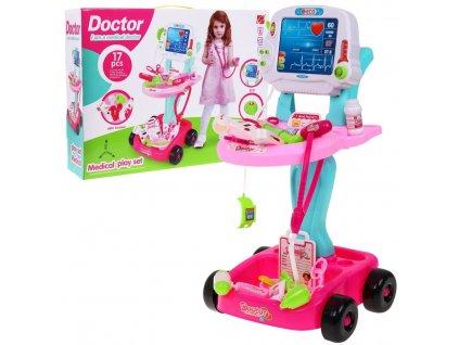 vozíček malého doktora růžový 1