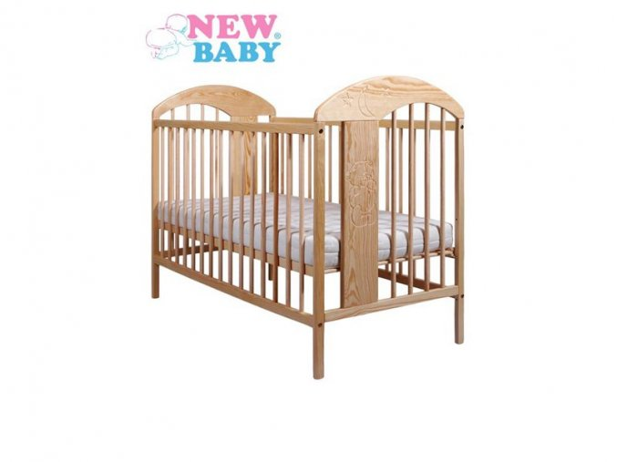 Dřevěná postýlka New Baby Adam přírodní