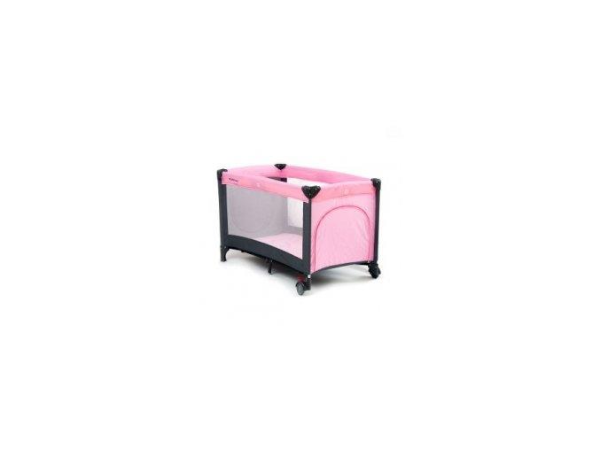 Cestovní postýlka QX-805 růžová