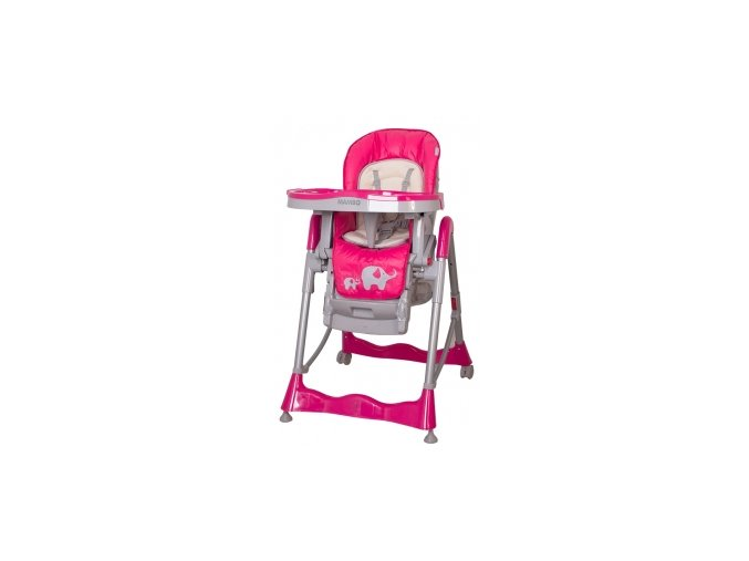 Jídelní židlička Sloníci  coto Mambo pink