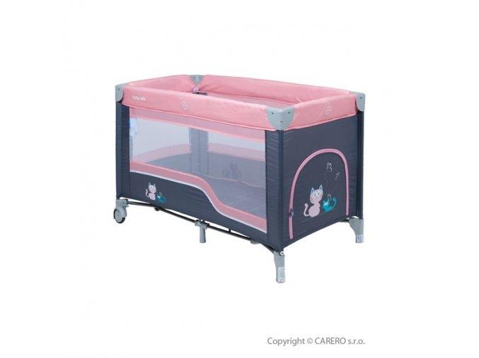 Cestovní postýlka Baby Mix pink + závěsné lůžko