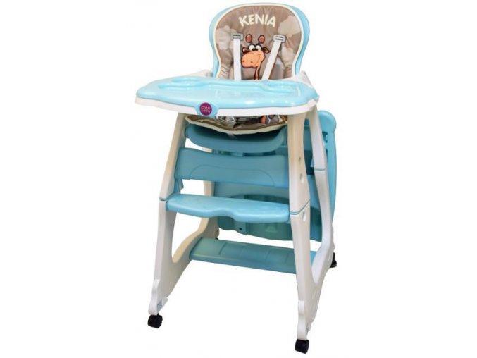 Jídelní židlička Kenia tyrkys/mint