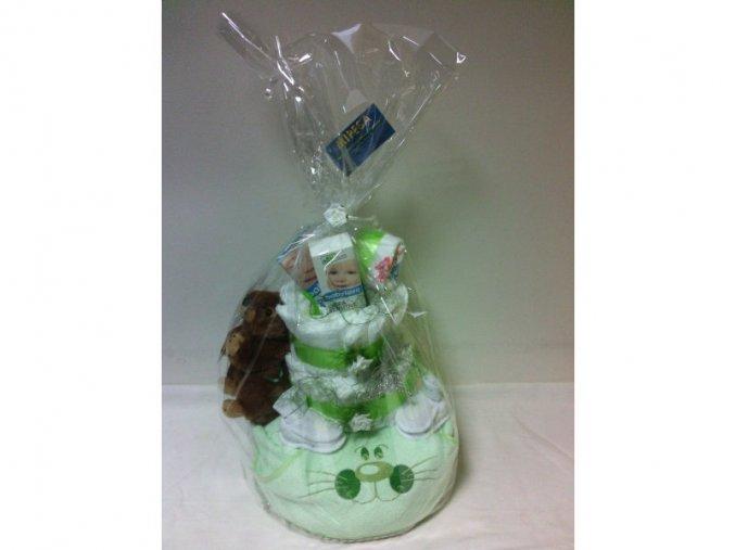 Plenkový dort III.patrový zelený č.3
