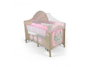 Cestovní postýlka Milly Mally Mirage De Luxe pink toys