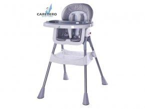 Jídelní židlička Caretero Pop grey