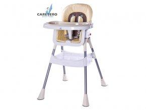 Jídelní židlička Caretero Pop cappuccino