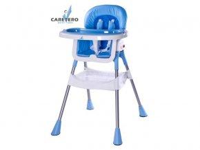 Jídelní židlička Caretero Pop blue