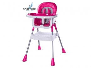 Jídelní židlička Caretero Pop magenta