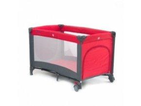 Cestovní postýlka QX-805 tmavě červená