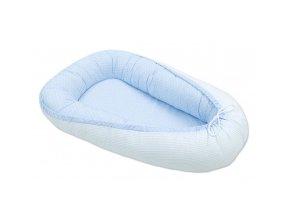 Oboustranné hnízdečko - kokon pro miminko Tečky modré