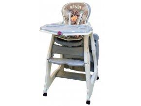 Jídelní židlička Kenia šedá
