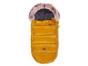 127273 223016 baby nellys detsky fusak style 4 v 1 s kozesinkou a maslickou 110 x 50 cm horcice