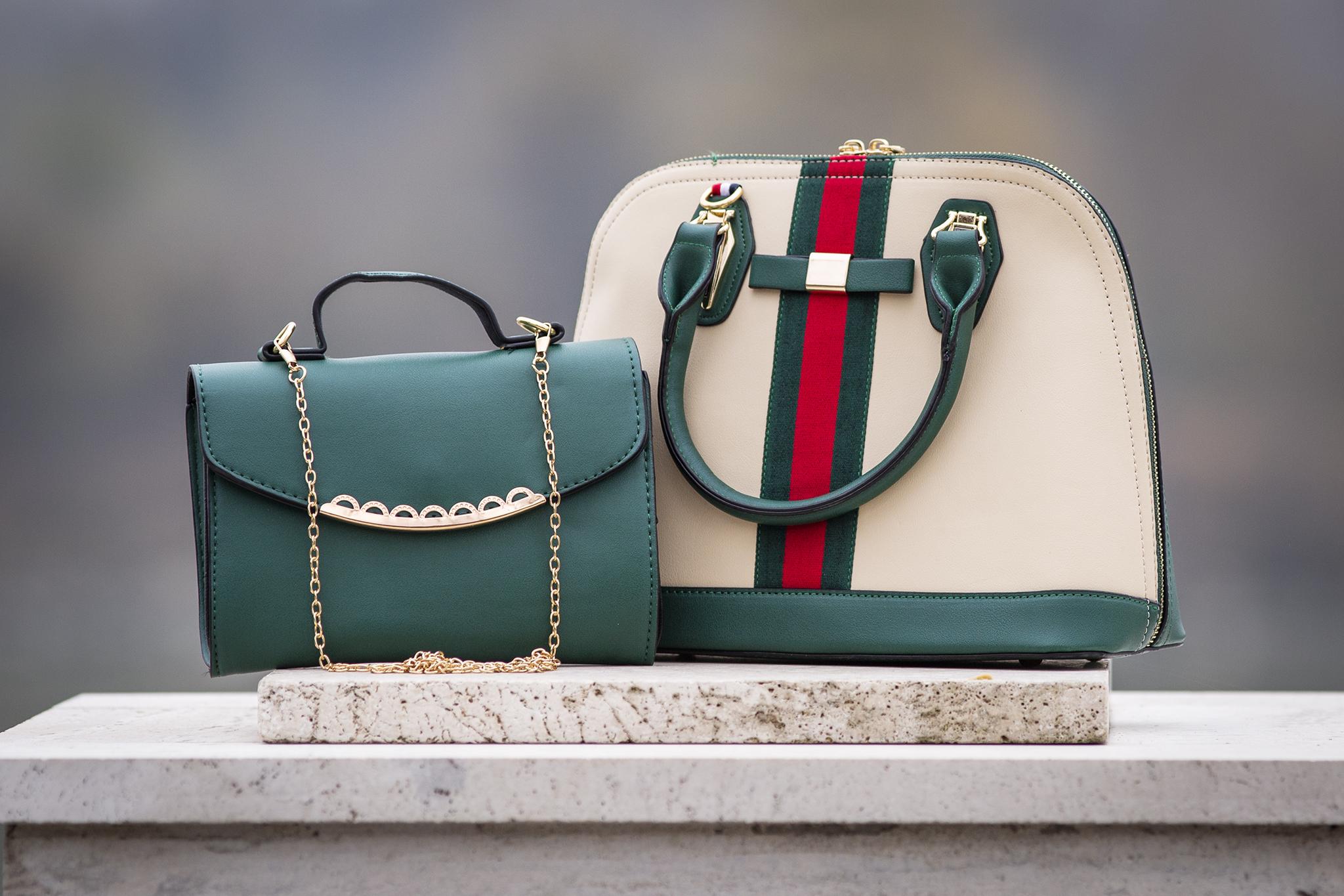 Dve dámske kabelky v jednom sete
