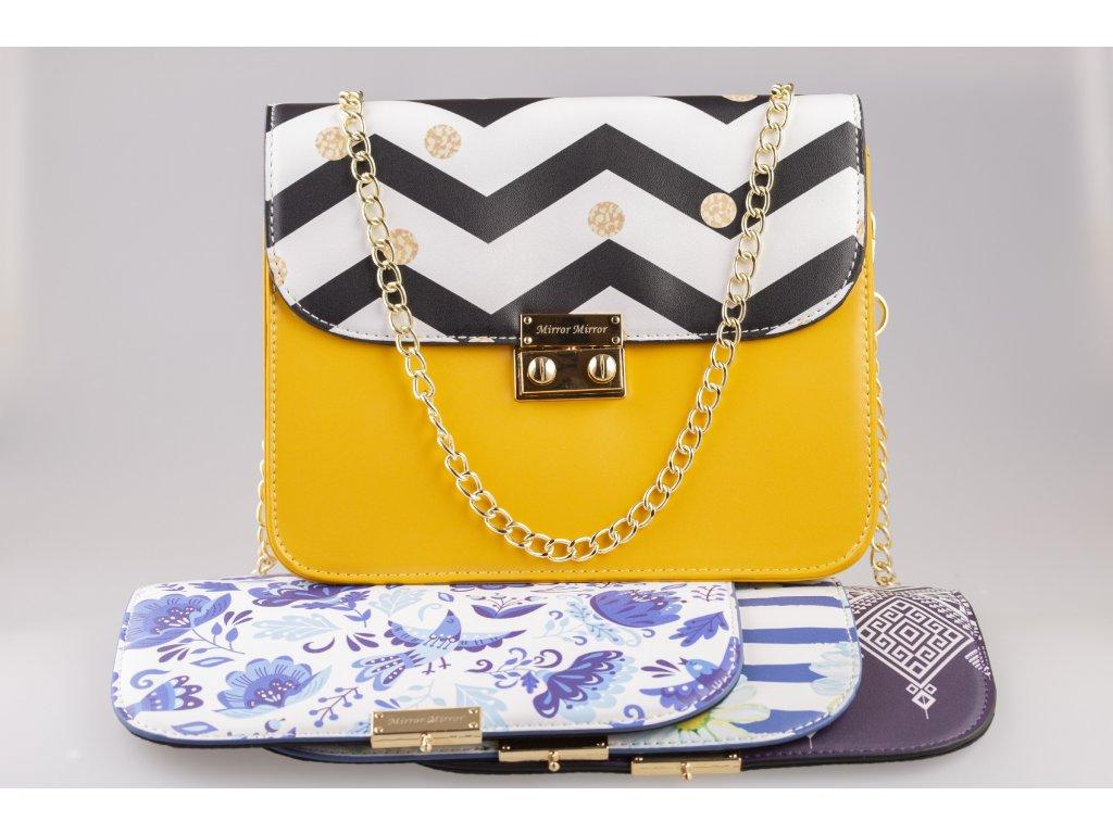 a652c7150 Dámska žltá kabelka Mango Kenza + 1 vymeniteľný flap