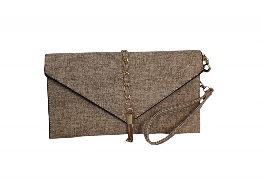 5efcb044e2 Malá a elegantná. Dámska hnedá listová kabelka.