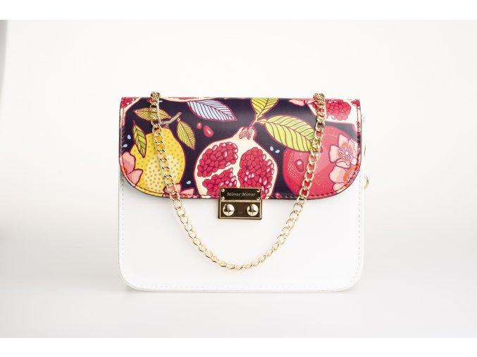 Biela kabelka White Gold + 2 vymeniteľné flapy