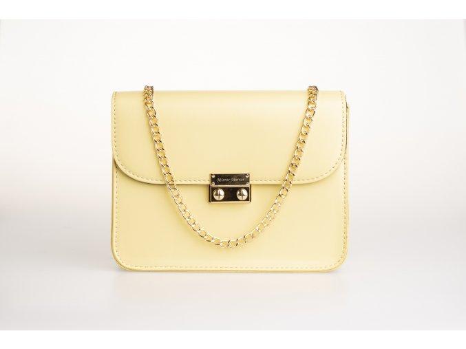 Bledožltá kabelka + 2 vymeniteľné flapy