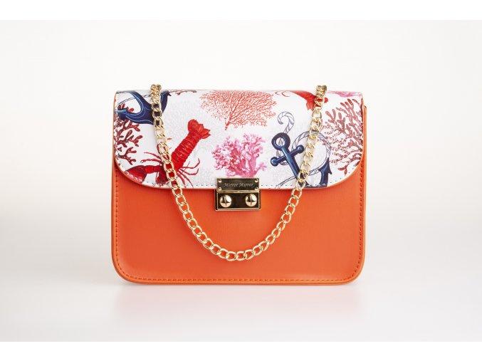Koralová kabelka + 2 vymeniteľné flapy