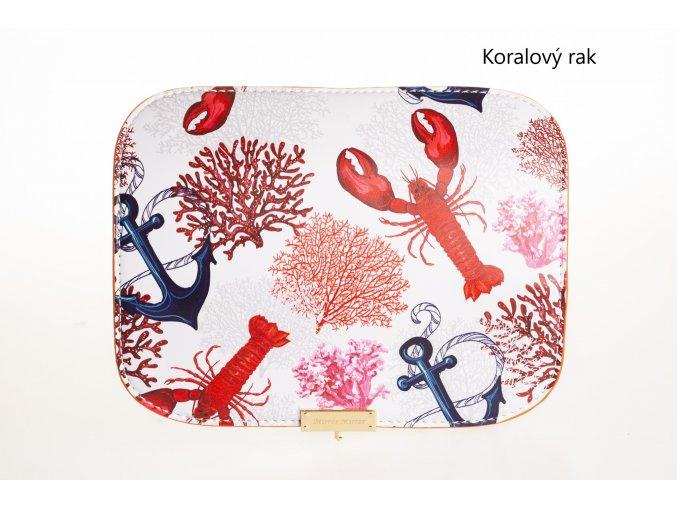 Vymeniteľný koženkový flap Koralový rak