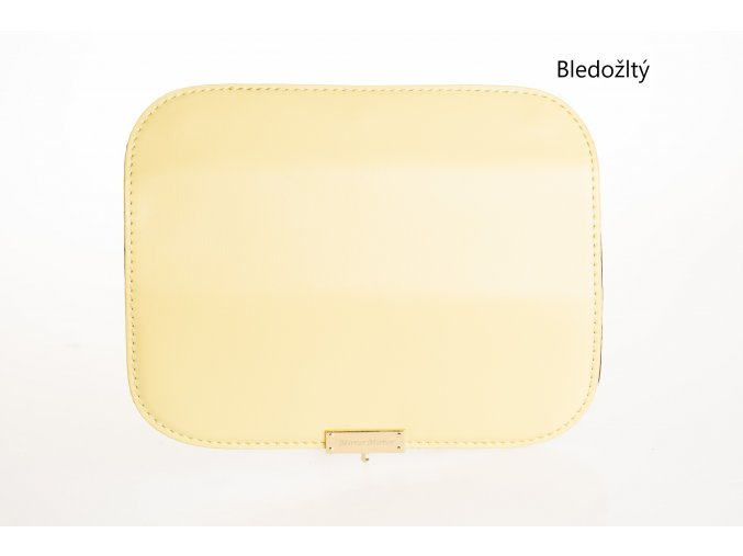 Vymeniteľný koženkový flap žltý čistý
