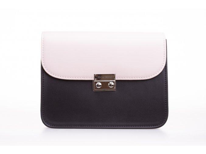 Čierna kabelka Black Silver+ 2 vymeniteľné flapy