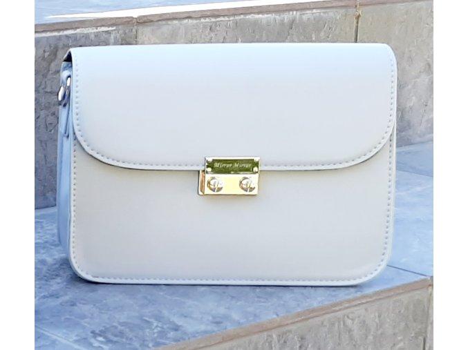 Sivá kabelka Silver+ 2 vymeniteľné flapy