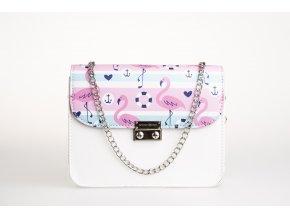 Biela kabelka White Silver+ 2 vymeniteľné flapy