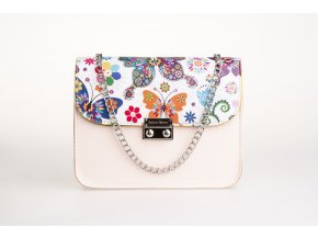 Bledorúžová kabelka Rouse Silver+ 2 vymeniteľné flapy