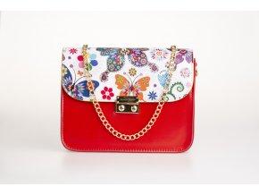 Červená kabelka red + 2 vymeniteľné flapy