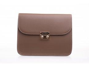 Hnedá kabelka Brown + 2 vymeniteľné flapy