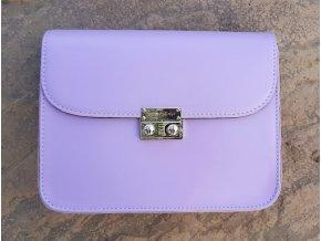 Fialová kabelka Silver+ 2 vymeniteľné flapy