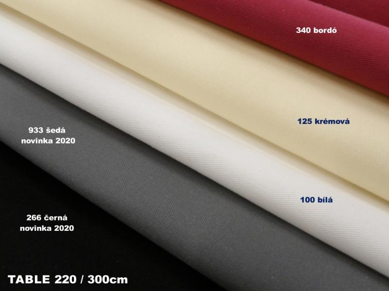 NOVÉ BARVY TABLE 220 / 300CM