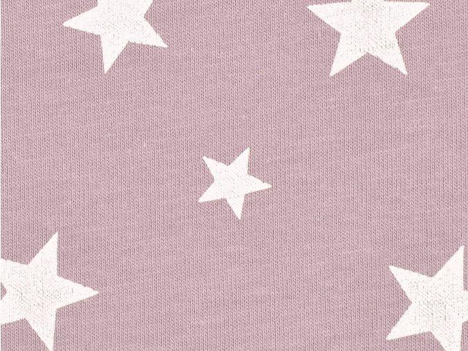 Úplet hvězdičky šedě fialová šířka 196 cm