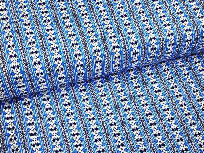 HEKTOR 115 (Trenkovina R224-1 modro-bílé kosočtverce)-160cm