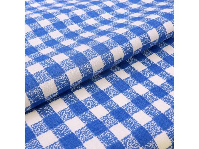 HABINA 125 (92321-11 Kostky modré 1cm)-142cm / METRÁŽ NA MÍRU