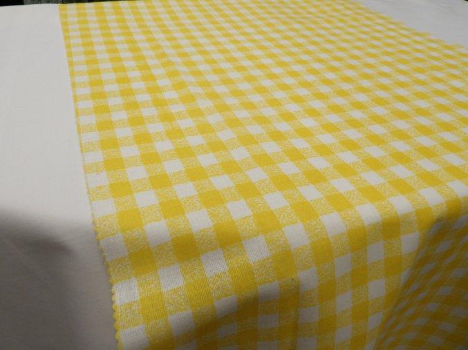 HABINA 125 (92321-17 Kostky žluté 1cm)-142cm / METRÁŽ NA MÍRU