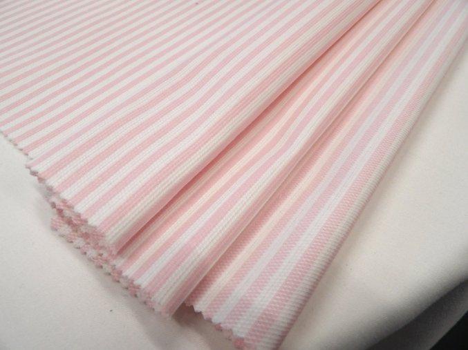 HALENA 160 (33330 Košilovina růžový proužek)-140cm / METRÁŽ NA MÍRU