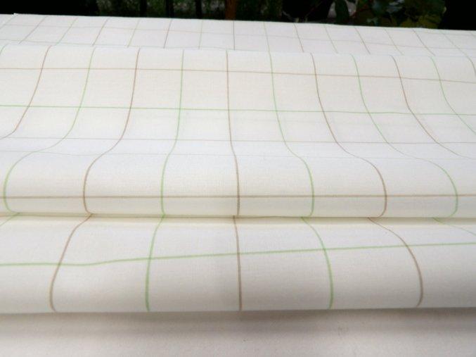 HALENA 115 (44401 Košilovina bílý podklad kostka zelená)-140cm