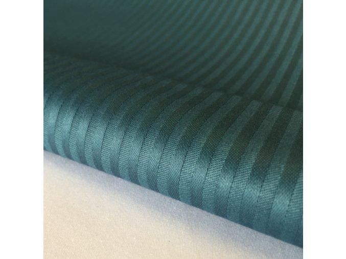 H-SATEEN 150/03MM (513622 zelená SOLITUDE pruhy 3mm)-160cm / METRÁŽ NA MÍRU