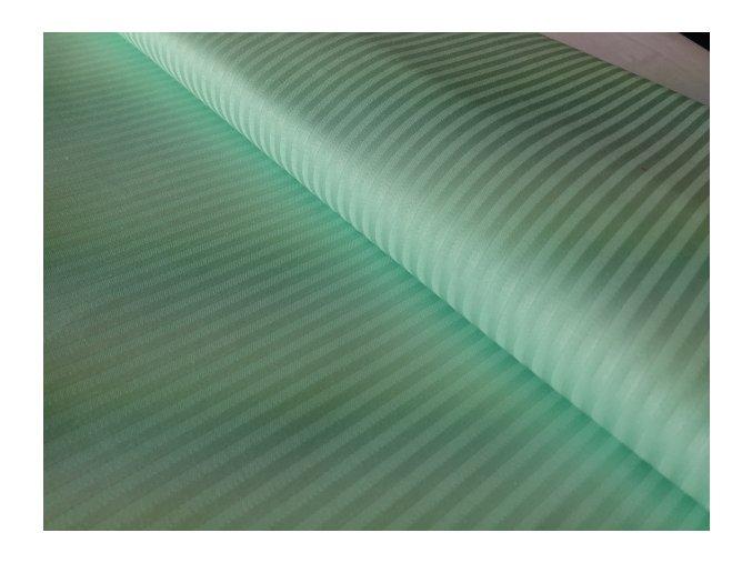 H-SATEEN 150/03MM (651441 zelená SOLITUDE pruhy 3mm)-145cm / METRÁŽ NA MÍRU