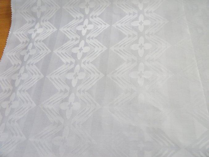 HEBRON 170 (Brokát 97077 Everest bílý) / METRÁŽ NA MÍRU