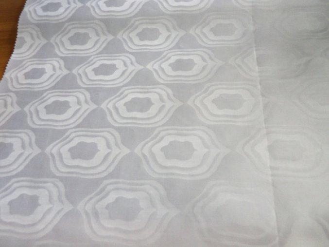HEBRON 170 (Brokát 97079 Everest bílý) / METRÁŽ NA MÍRU