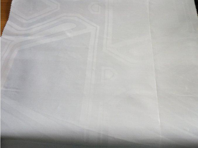 HEBRON 170 (Brokát 97153 Fiesta bílý) / METRÁŽ NA MÍRU