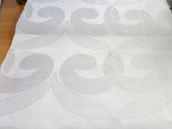 HEBRON 170 (Brokát 97154 Fiesta bílý) / METRÁŽ NA MÍRU