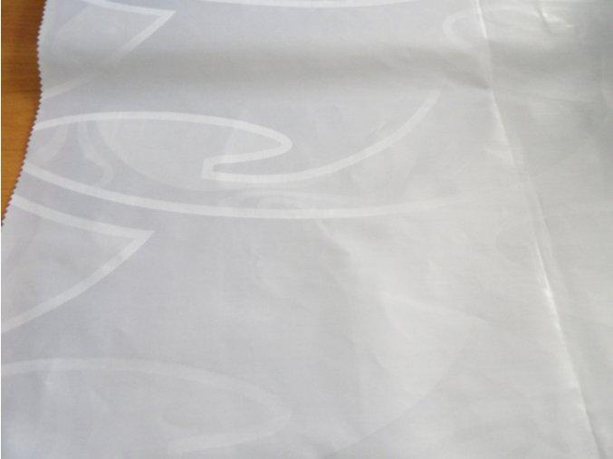 HEBRON 170 (Brokát 97151 Fiesta bílý)