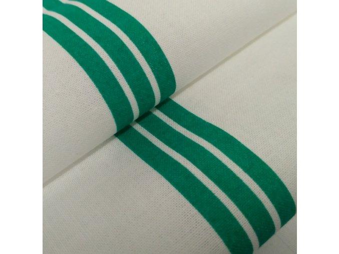 DOMESTIK 145/P07 zelený pruh do zdravotnictví 150cm