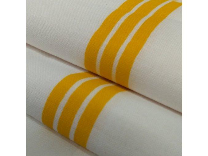DOMESTIK 145/P33 žlutý pruh do zdravotnictví 150cm