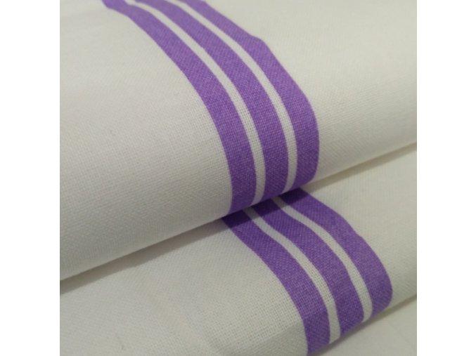 DOMESTIK 145/P50 fialový pruh do zdravotnictví 150cm