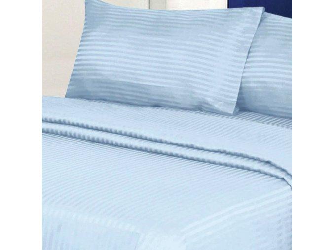 ATLAS GRADEL 170/610 modrá, 10mm hotelový pruh 145cm / METRÁŽ NA MÍRU