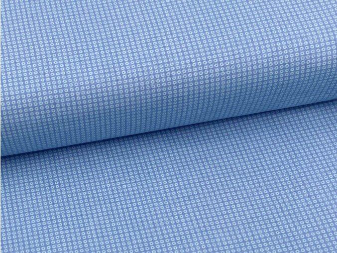 FLANEL 150 (11676-1 drobná kolečka modrá) 150cm